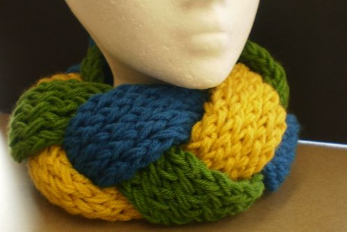 Braided Knifty Knitter Scarf by Jen Langman